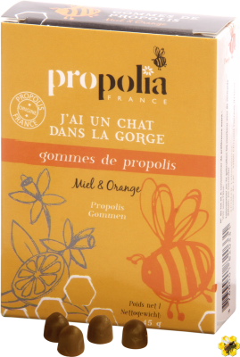 Gommes de Propolis - Orange & Miel