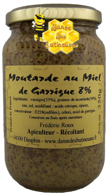 Moutarde à l'ancienne au Miel de Garrigue 8%